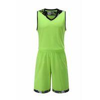outdoor-trikots großhandel-2018 neue basketball sets sport trikots und shorts 2 stück anzug männer überlegene qualität outdoor basketball shirts und hosen männliche sportbekleidung