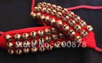 rote armband bestellen großhandel-BB-261 indische handgemachte Tanz Fußkettchen Armband, Messing Glocken, schwarz und rot, Mix Auftrag Großhandel Glocke Weihnachten Glocke Walze