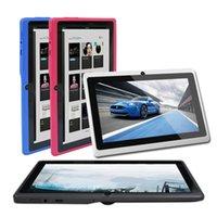 ingrosso q88 a33 tavoletta quad core-Tablet Q88 7 pollici Android 4.4 Tablet PC ALLwinner A33 Quade Core Dual Camera 8GB 512 MB Capacitivo con giochi per bambini