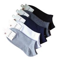 Wholesale slipper socks for men online - Spring Summer Men Cotton Ankle Socks For Men S Business Casual Solid Colors Short Socks Male Sock Slippers pairs S02