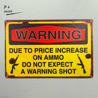 engraçado parede sinais venda por atacado-Aviso Tiro Sinal Da Lata Engraçado personalidade Bar pub Rústico Placa De Parede Garagem Decoração Da Parede Poster Da Arte Do Metal