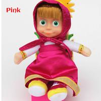 Wholesale masha bear toys online - New Arrival Russian Masha Bear Toys Plush Dolls Baby Children Stuffed Plush Dolls Baby Matryoshka Doll