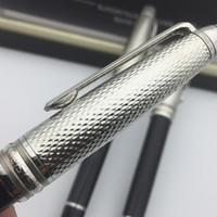 caneta padrão venda por atacado-Moda Top Marca MB caneta Onda De Prata padrão textura Rollerball pen estacionária suprimentos Alemanha caneta com número de série