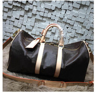khaki duffle bag großhandel-mode männer frauen reisetasche duffle bag, marke designer gepäck handtaschen große kapazität sporttasche 60 CM