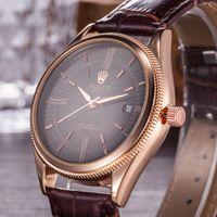 Wholesale classic swiss watch - Swiss Watches LOGO brand watch Classic leather watches men luxury brand resistant fashion watch quartz clocks Masculino Wristwatches