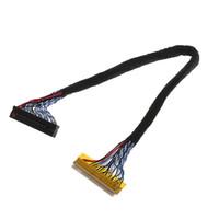 cables de lvds al por mayor-8 bits LVDS Cable FIX-30 Pin 2ch para 17-26 pulgadas LCD / LED Panel Controller 25cm # R179T # envío de la gota