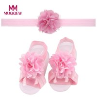 Shop flower girl shoes pearls uk flower girl shoes pearls free 1pair baby girls beach sandals shoes summer pearl chiffon barefoot toddler foot flower beach sandals with flower headband mightylinksfo