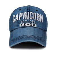 Wholesale worn baseball cap - Popular Letter Capricorn Baseball Cap Comfortable To Wear Cowboy Hat For Men And Women Snapback Practical 6 3xc BB