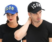 Wholesale unisex gifts for adults resale online - DSQICOND2 ICON Snap back hat baseball Cap snapback hats for Men Women mens snapbacks Cotton casual icon cap adult sport ball caps best Gift