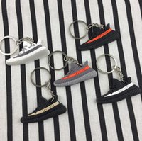 Wholesale Shoes Key Chain Ring - PVC BOOST Shoes Keychain Bag Charm Woman Men Kids Key Ring Key Holder Gift Sneaker Key Chain 11 Styles OOA4255