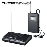 ingrosso orecchio uhf-Original Takstar Wpm-200 TransmitterReceiver Stage monitora un set UHF Wireless Monitor System In-Ear Stereo Wireless Headset