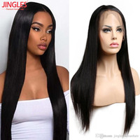 Wholesale cheap full lace yaki human hair for sale - Cheap Peruvian Pre Plucked Remy Human hair Full Lace human hair wigs Virgin human hair wigs natural straight for black women deal