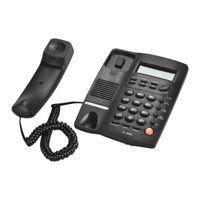 дисплей звонящего оптовых-Стол телефон проводной телефон телефон стационарный ЖК-дисплей Caller ID громкость регулируемый калькулятор будильник для домашнего вызова новый