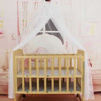 Wholesale toddler mosquito net for sale - Portable Size Baby Bedding Crib Mosquito Net Round Toddler Baby Safe Bedding Netting Mosquito Mesh Hung Dome Curtain Net