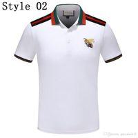 657f985856 2018 SpringNew Marca de Luxo Bordado Camisas Para Homens EUA Moda Eagle  Poloshirt Camisa Dos Homens de Rua Alta Impressão Mens Pólo Camisa