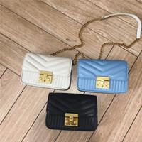bej renkli kadın çantaları toptan satış-Yeni zincir saf renk kilit kadınlar tasarımcı omuz Crossbody messenger çanta bayan casual akşam çantalar siyah / mavi / bej renk no981