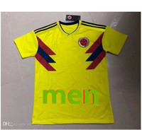 Wholesale fifa online - 2018 FIFA World Cup Colombia Soccer Jersey Yellow White Blue JAMES FALCAO CUADRADO AGUILAR GUARIN SANCHEZ T shirt