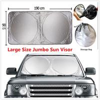 Universal SUV Windshield Sun Visor Foldable Jumbo Large Car Windshield SunShade Blocks UV Rays Sun Visor High Quality