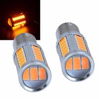Wholesale amber fog lights online - 2pcs LED Brake Stop Reverse Backup Turn Signal Light Bulb Amber Auto Back Fog Lamp Rear Tail Stop Bulb