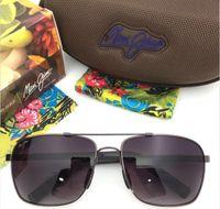 Wholesale New Super Lens - New arrived maui jim 327 sunglasses Polarized lens sun glasses men women sports mj 327 super rimless Aviator driving with original case