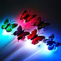 ingrosso decorazioni dei capelli della farfalla-Trecce luminose a farfalla colorate Parrucche a LED Flash luminosi a LED Treccia di capelli Clip a forcina Decorazione Ligth Up Show Party 30