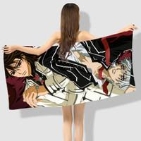 anime vampire knight toptan satış-Anime Manga Vampir Şövalye Banyo Havlusu 70X140 cm Plaj Havlusu 002