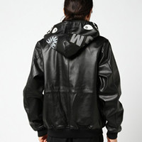 parejas chaquetas de cuero al por mayor-Lujo Shark Zipper Chaqueta con capucha Vintage Tall Street Moda Hip Hop Cuero negro Hombres Mujeres Parejas Escudo HFSSJK004