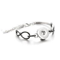 charme armband armbänder zum verkauf großhandel-Heißer Verkauf Snap Schmuck Antike Armreif Silber Charms Stulpearmbänder Fit 18mm Druckknopf Armband Für Frauen Männer