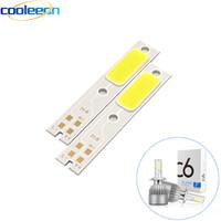 10pcs C6 Car Headlight LED Chip Light Source H1 H3 H4 H7 H11 880 9005 9012 Auto Headlamp COB Chip for C6 Bulbs