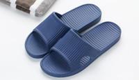 chinelo japonês venda por atacado-Novo estilo japonês de verão casal massagem banheiro antiderrapante chinelos de fundo macio cor sólida homens e mulheres em casa sandálias de fundo macio