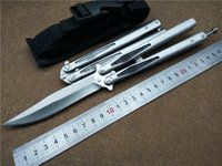 Wholesale pack edc - MT Bali Butterfly Folding Knife 58HRC 9cr18 Blade Single Edge Outdoor Tactical Survival Knife Utility Camping Tool With Original Packing
