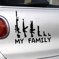 ingrosso grafica di auto bianca-Hot Cool My Gun Adesivo per finestra familiare Car Stying Grafica Adesivo per paraurti Adesivo divertente Rivestimento riflettente Nero Bianco