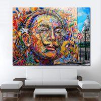retratos modernos venda por atacado-1 Pcs Modern Decorativa Pictures Retrato Retrato Da Arte Da Rua Home Decor Canvas Print Sem Moldura Da Lona