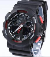 большие светодиодные часы оптовых-Мужчины работает Военные большие часы наручные часы ga100 из светодиодов кварцевые часы спорт мужской relogios masculino спорт с шок случайные часы мужчины г часы
