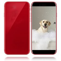 Wholesale glass mp3 - Goophone i8 plus 5.5 Inch Smartphone Quad Core MTK6580 1G 4G glass back cover Show 4g lte 4G 128G unlocked phone