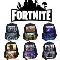 Wholesale cartoon games for girls - 6 colors children Schoolbag Kindergarten Backpack Boy Cute Fortnite Cartoon Backpack Hot Game Backpack School Bags for Boys and Girls MMA375
