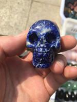 crystal skulls china NZ - New natural crystal skull ornament, lapis lazuli skull, lapis lazuli decoration, 45 mm size free cargo home decoration.