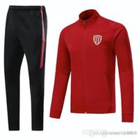 monaco UK - full zip 17 18 Monaco survetement football FC tracksuits training soccer jacket hoodies sweatshirts +pants mbappe sports wear sets