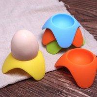 kochende tasse großhandel-Silikon-Eierbecher-Halter-Umhüllungs-Tassen vervollkommnen für die Umhüllung-harten und weichen gekochten Eier Rahmen-Seat-Küchen-Zusatzgerät-Geräte