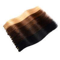 peruanischen webpackungen großhandel-Brasilianisches Jungfrau-Haar bündelt peruanisches gerades Haar spinnt 1B # # 1 # 2 # 4 # 27 # 99j # 613 Menschenhaar-Ausdehnung 100g / pcs 3pcs / pack oder 4pcs / pack