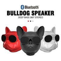 Wholesale bass speaker stand - 2018 Hot Wireless Speaker Bulldog Bluetooth Speaker Aero Dog Outdoor Portable HIFI Bass Stereo Speaker Multipurpose Touch Control Free ship