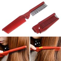Wholesale Red Hairbrush - 2017 Folding Combs Haircut Makeup Beauty Comb Pro Hair Style Combs Styling Tools Anti-static Hair Care Hairbrush