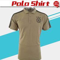 Wholesale polo football online - 2019 Ajax Polo Soccer Jersey Ajax khaki Soccer Polo Football Uniforms khaki Sport Shirt On Sale