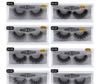 Wholesale individual mink lash extensions - stock 11 styles Selling 1pair lot 100% Real Siberian 3D Mink Full Strip False Eyelash Long Individual Eyelashes Mink Lashes Extension