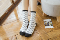 Wholesale coffee spring - 3 colors socks coffee purple white color spring fashion brand socks lovers socks