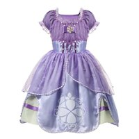 платья для принцессы с капюшоном для девочек оптовых-Прекрасный Cap рукавом девушки театрализованное платья Deluxe Dress косплей костюм платье принцессы платье для детей