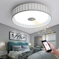 metros cuadrados al por mayor-RGB Regulable Luces de techo modernas 36W Lámparas LED con Bluetooth Music Lámpara de techo inteligente para 10 -15 metros cuadrados de nuevo diseño
