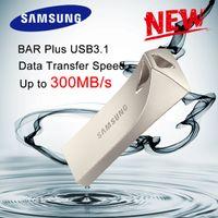 128 gb metal flash sürücü toptan satış-Orijinal USB 3.1 BAR + 300 mb / s MUF-32BE Metal U Disk Flash Sürücü Tam Kapasite 100% 32 GB 64 GB 128 GB NAND USB Flash Sürücü