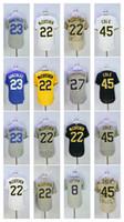 Wholesale Polyester Baseball Shorts - Men's Jersey 22 Andrew McCutchen 23 Adrian Gonzalez 45 Gerrit Cole 8 Justin Upton 27 Zimmermann Men Baseball Jerseys