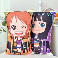 Wholesale Japanese Anime Fabrics - Japanese Anime One Piece Nami, Nico Robin Hugging Body Back Pillow Cute Cartoon Cushion 35x55 45x70cm 2WAY Plush Fabric